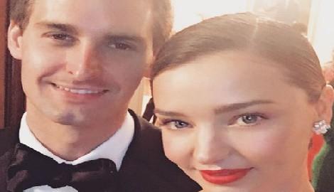 Miranda Kerr Snapchat' co-founder Evan Spiegel's Fiancee