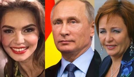 Vladimir Putin's ex -wife Lyudmila Putina and GF Alina Kabaeva