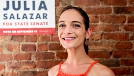 Who is Julia Salazar's boyfriend?